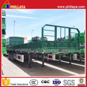 Flatbed Truck Trailer Long Vehicle with Side Wall Detachable Optional pictures & photos