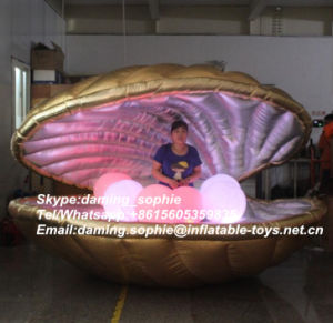 New Customized Inflatable Golden Shell Tent for Wedding