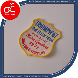 Fasion Custom Self-Adhesive Embroidery Patch pictures & photos