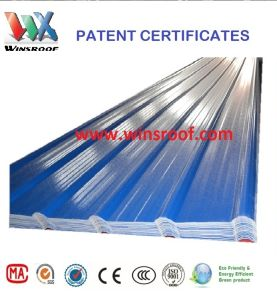 Winsroof 4 Layers ASA PVC Roofing Sheet Blue and White Color pictures & photos