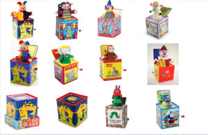 Wholesale Jack in The Box Tin Toy with Custom Music pictures & photos