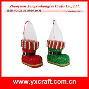 Christmas Decoration (ZY16Y107-3-4 14CM) Xmas Boot Direct Factory pictures & photos