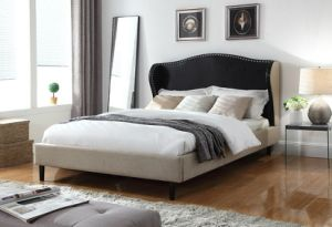 Modern Home Furniture Mix-Color Fabric Hotel Bedroom Bed