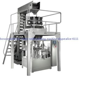 Full Automatic Zipper Bag Pet Food Packing Machine Approved CE