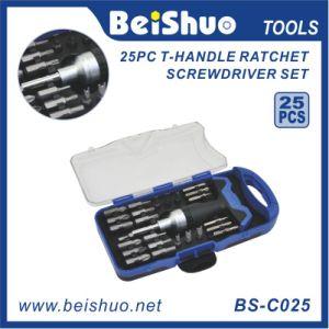 25PC T-Handle Ratchet Screwdriver Set pictures & photos
