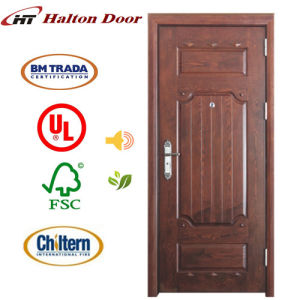 Solid Entrance Mahogany Wooden Door for Villa