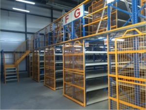 Warehouse Storage Steel Structure Mezzanine (21153) pictures & photos