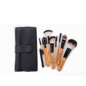 10PCS Goat Hair Professional Cosmetic and Make up Brush with Bag Packing pictures & photos
