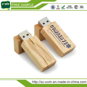 Wooden Pen Drive Rotation 2.0 USB Flash Drive Memory Stick pictures & photos