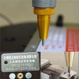 Benchtop Pneumatic Metal DOT Pin Marking Machine for Nameplate pictures & photos