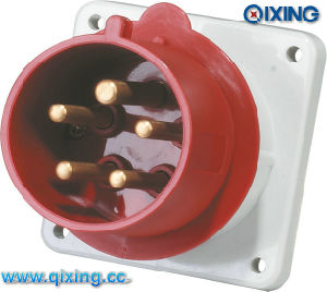IEC Straight Plug for Panel Mounted with Flange (QX815) pictures & photos