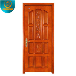 Okoume Wood Grain Veneer MDF Door Skin with Different Panel pictures & photos