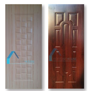 Melamine Faced Molded HDF Door Skin with Ash/Red Color pictures & photos