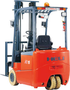 1-2t Three Wheel AC Electric Forklift Trucks