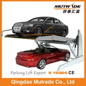 Hydraulic Two Post Mini Tilting Parking Lift pictures & photos
