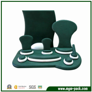 Popular Custom Green Leather Jewellery Display pictures & photos