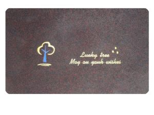 Embroidered PVC Ground Mat with Carpet pictures & photos