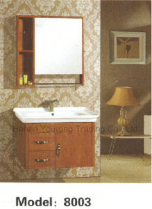Solid Wood Bathroom Cabinet with Mirror (No. 8003)