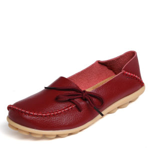 Women Genuine Leather Moccasins Mother Loafers Leisure Flats pictures & photos