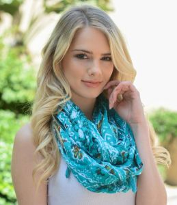 Attractive Fashion Ladies Polyester Silk Neck Warmer Infinity Chiffon Scarf pictures & photos