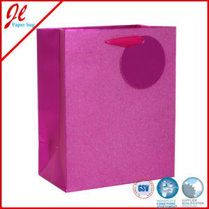Silver Glister Quality Paper Bags Hologram Gift Bags Foil Gift Bags with Hanging Tag pictures & photos