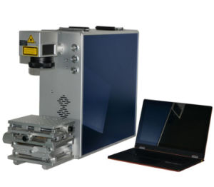CNC Fiber Type Laser Machine Marking on Phone Bumper Case  pictures & photos