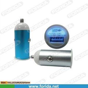 Aluminum Case Small Size Design 2.1AMP USB Car Charger