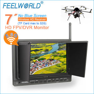 "7"" Wireless Built-in Receiver 5.8GHz HD Fpv Monitor"