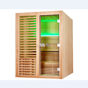 Symmetrical Square 3 People Use Dry Wooden Sauna Room (M-6038) pictures & photos
