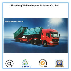 Hydraulic Tipper Trailer, Mining Dump Truck Trailer From China pictures & photos