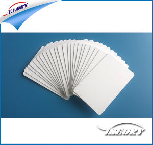 Plastic Die Cut Blank PVC Card (CR80) pictures & photos