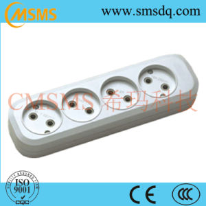European Style 4 Way Extension Power Cord Socket pictures & photos