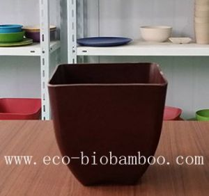 Biodegradable Bamboo Fiber Flower Pot (BC-F5007) pictures & photos