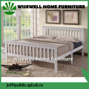 Pine Wood Double Bed for Bedroom (W-B-0075) pictures & photos