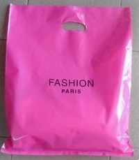 Customized Printing Plastic HDPE Shopping Packing Hand Bags---Printing or Colors