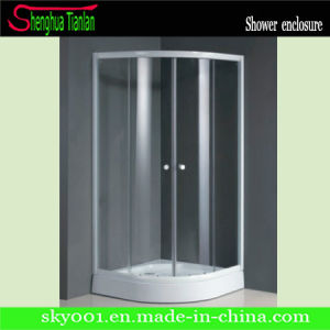 Quadrat Tempered Transperant Glass Sliding Bathroom Shower Stall (TL-518) pictures & photos