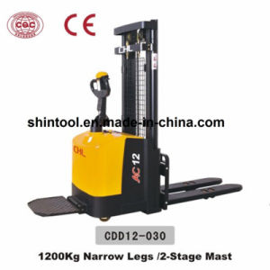 1200kg Electric Pallet Stacker with Curtis Controller (CDD12-030) pictures & photos