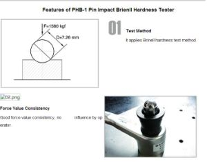 Portable Shear Pin Hammer Impact Brinell Hardness Tester (PHB-1)/Pin Impact Brinell Hardness Tester/impact tester/hammer tester/pin impact/brinell hardness test pictures & photos
