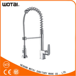 Wotai Company Spring Pull out Kitchen Faucet (WT1030CH-KF) pictures & photos