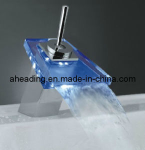 Basin Mixer with LED Light pictures & photos