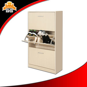Kd Structure High Quality Metal 3 Drawer Shoe Cabinet pictures & photos