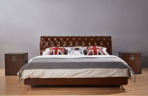 French Style Leather Bedroom Bed, Modern Bed (B002) pictures & photos