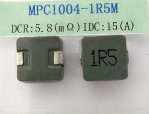 Power Inductor, 1.5uh 20%, Temperature Rise Current: 15A, Dcr: 5.8mohm, Size: 10*10*4.0mm pictures & photos