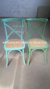 Wholesale Colorful Wooden Cross Back Chair pictures & photos