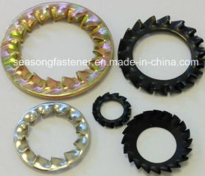 Tooth Lock Washer / Serrated Washer (DIN6798) pictures & photos