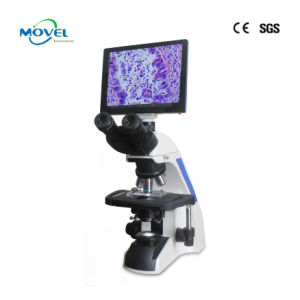 Professional Supply Lab Digital LCD Screen Video Bilogical Microscoope with Software pictures & photos