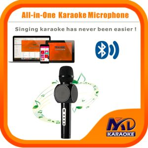 Magicsing Karaoke Microphone Portable Wireless Bluetooth Microphone Home Mini Karaoke Player KTV Singing Record for iPhone Smart Phone Tablet PC Laptop