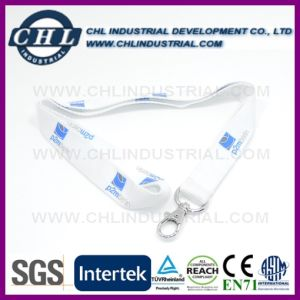 Plastic Clip USB Drive Non Woven Lanyard with Oval Hook pictures & photos