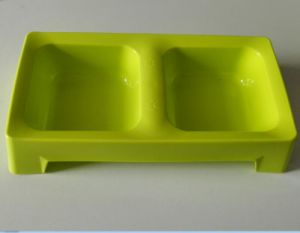 Environmental Protection PP First-Class Square Double Bowls pictures & photos