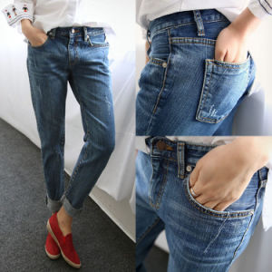 Denim Pants Woman Jeans pictures & photos